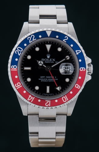 Rolex GMT Master II, Z-Serie, Reference 16710 BLRO, Stick Dial